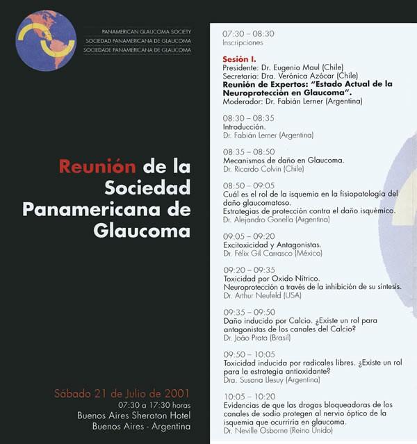 Moderador Reunion de expertos de la Sociedad Panamericana de Glaucoma - Buenos-Aires