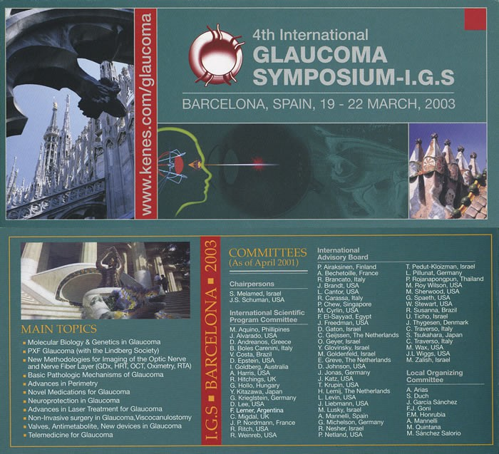 International Glaucoma Symposium - Barcelona