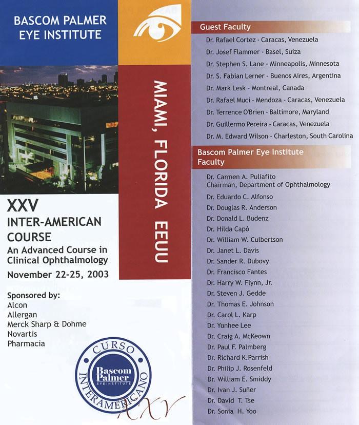 XXV Curso Interamericano del Bascom Palmer Eye Institute Miami