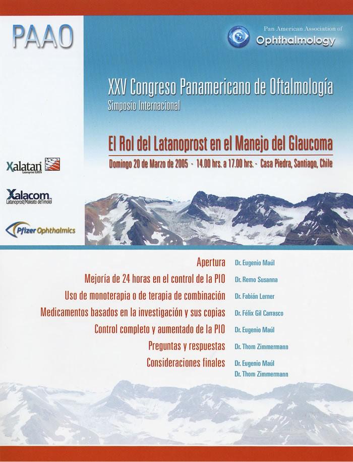 Congreso Panamericano de Oftalmología - Santiago de Chile