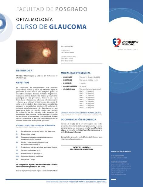 Curso de Glaucoma - Universidad Favaloro
