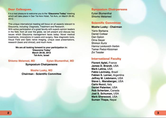 Glaucoma Today - Israel - Invitado internacional