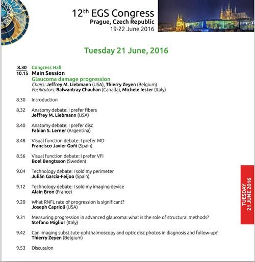 Congreso Sociedad Europea de Glaucoma