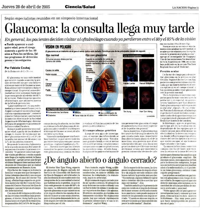 Glaucoma la consulta llega muy tarde