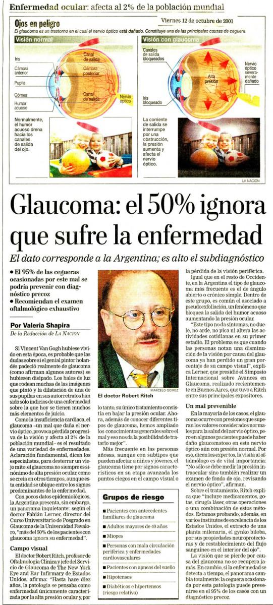Glaucoma: el 50% ignora que sufre la enfermedad